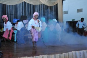 Cultural display by the students